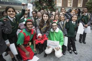 Pupils visit Middlesex University to switch on Christmas lights