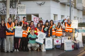 Junior doctors at Barnet Hospital join in second 24-hour strike
