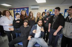 Drum and bass band Rudimental bring music to the classroom